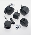 Black Twin Wheel Castors