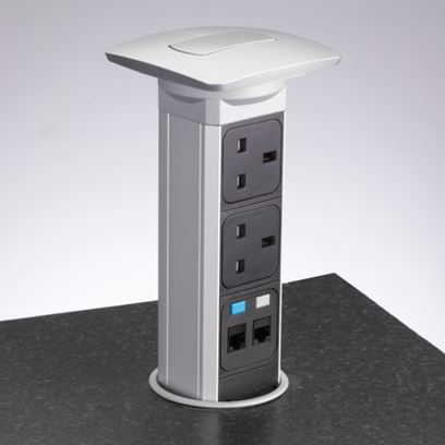 Cube Pull Up Kitchen Sockets