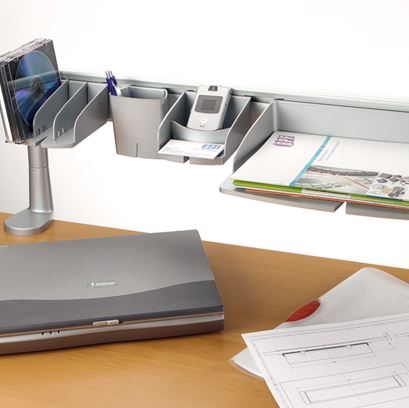 Desk Mounted Toolbar Organisers