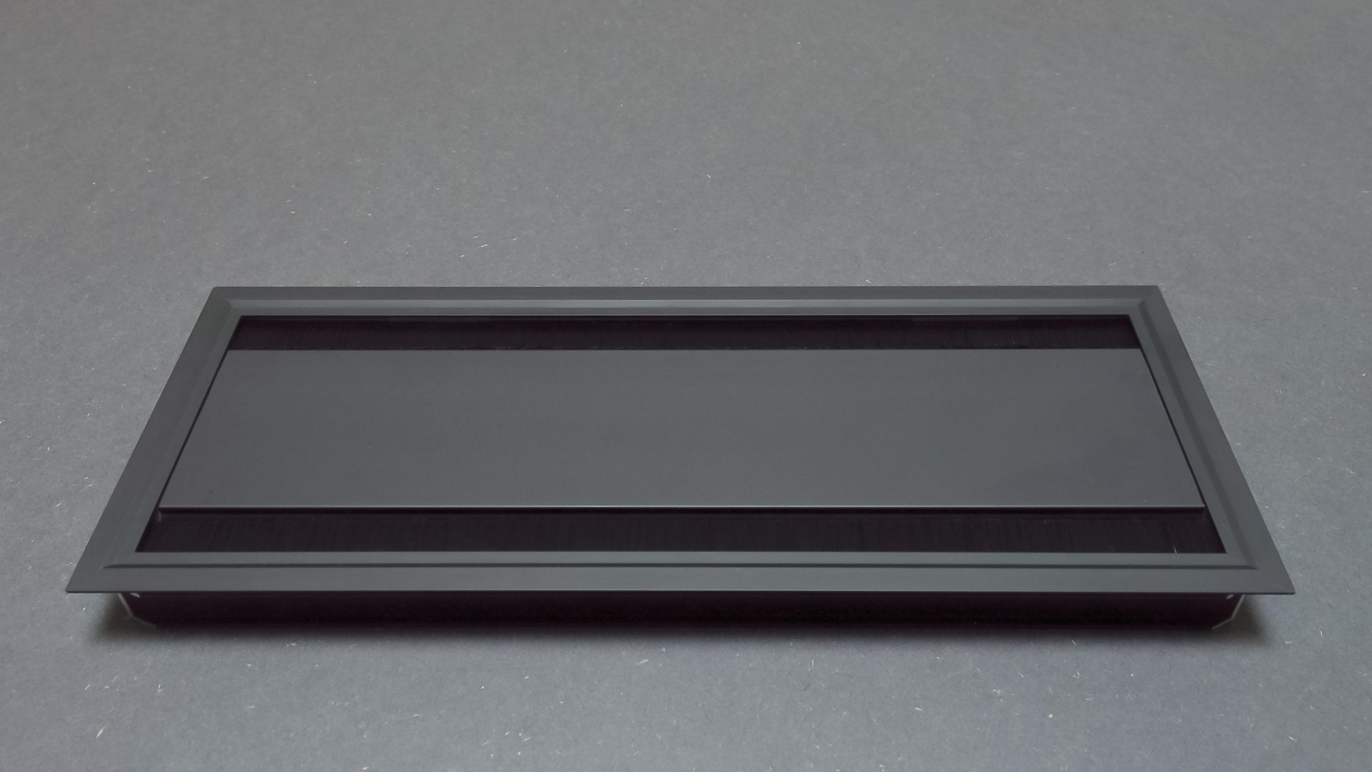 Dual Hinged Access Plate   Black