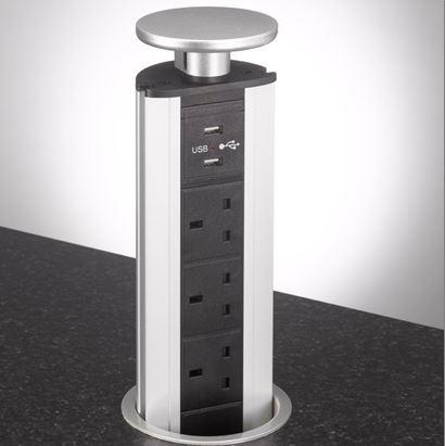 Fabulous Pop Up Kitchen Sockets Worktop Sockets Bpf Inzonedesignstudio Interior Chair Design Inzonedesignstudiocom