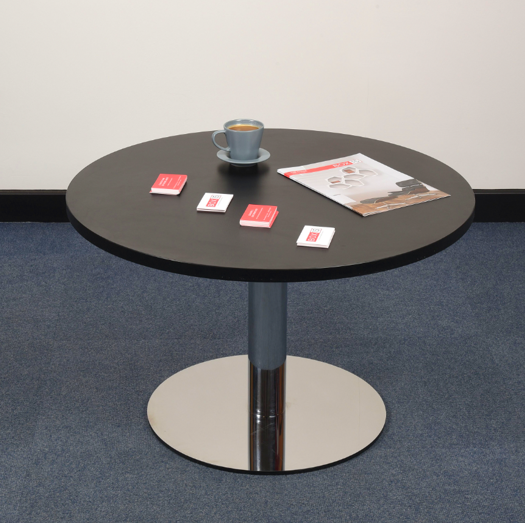 Coffee Height Round Large Table Base Round Column: K8 Single Column Table Bases
