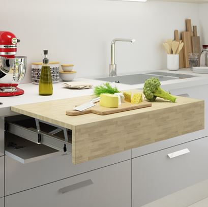 OPLA Pull Out Flush Countertop / Shelf Extension