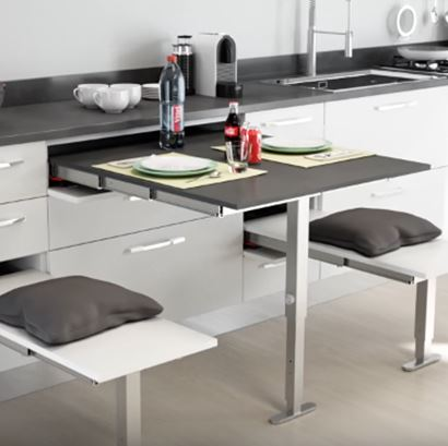 Concealed Pull Out Table Frames