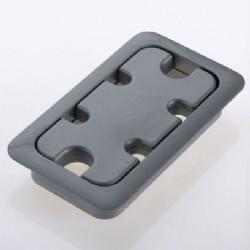 Desk Grommets for Rectangular Holes