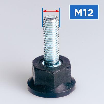 M12 Thread Rigid Feet