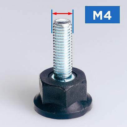 M4 Thread Rigid Feet