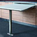 T-Able Pull Out Tables with Telescopic Leg