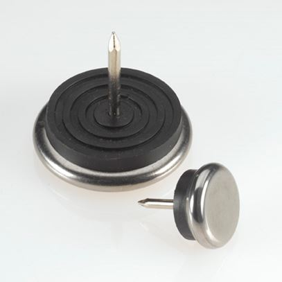 Tap-In Nail Glides With Chrome Base