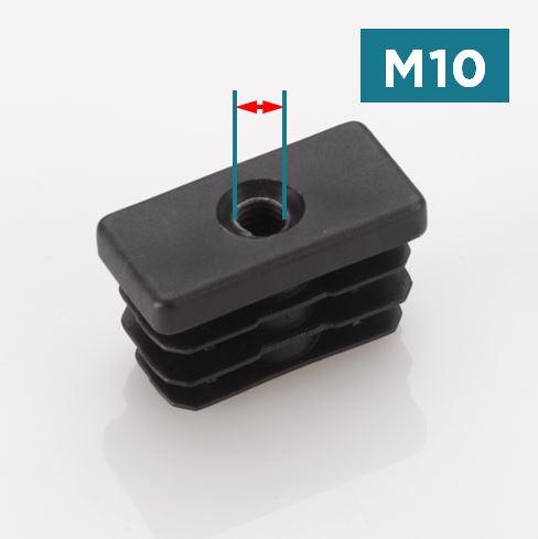 M10 Rectangular Threaded Tube Inserts