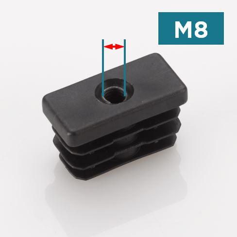 M8 Rectangular Threaded Tube Inserts