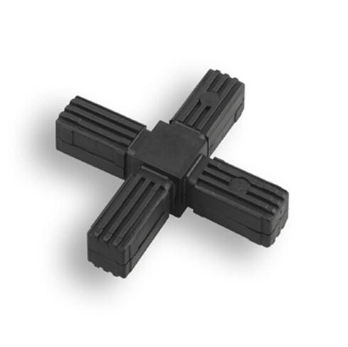 Square Tube Connectors | 4-Way Cruciform
